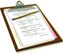Image of two word documents is a visual reference for the Checklists and Evaluations webpage.