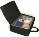 An illustration of an open briefcase represents the TUSK  usability screening kit.
