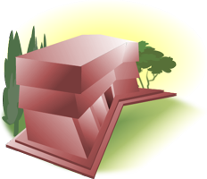 Illustration represents virtual campus Library section.