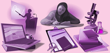 Illustrations representing Instructional Methods section of the website.