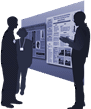 An illustration provides representation of Posters & Exhibits section of website.