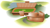Illustration representing Sports and Recreation section of virtual campus.